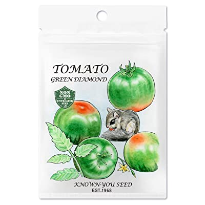 Non-GMO, Untreated Seeds, F1 Hybrid Tomato Seeds, Variety: Green Diamond : Garden & Outdoor