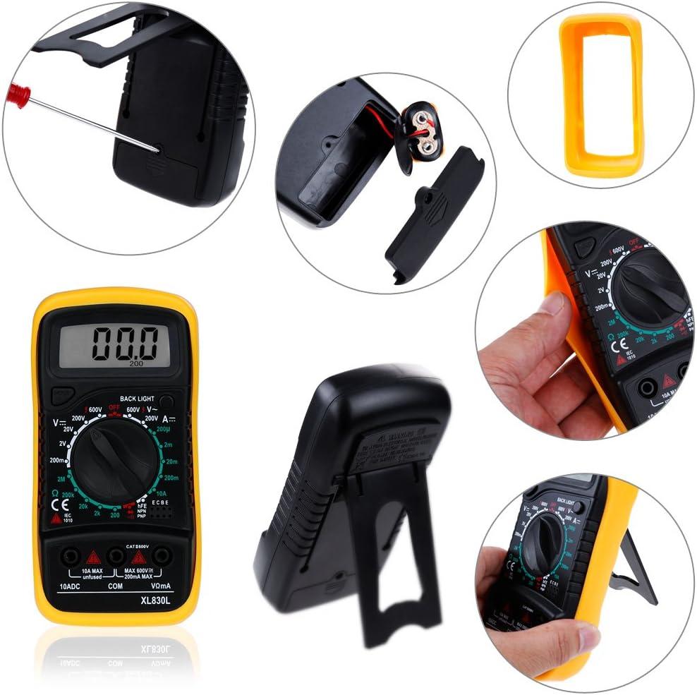 avec /écran r/étro/éclair/é portable courant AC DC Mini-multim/ètre num/érique Zacro mesure tension /électrique
