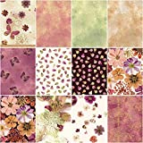 Kanvas Studio Floral Impressions Rose/Plum 10X10 Pack 42 10-inch Squares Layer Cake Benartex, Assorted