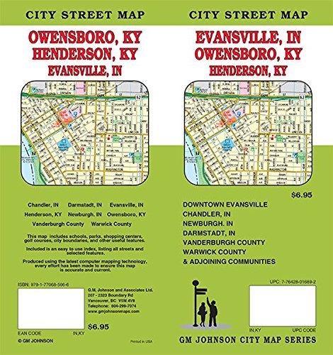 Evansville in owensboro ky henderson ky indiana kentucky evansville in owensboro ky henderson ky indiana kentucky street map actionmap 9781770685666 amazon books publicscrutiny Choice Image
