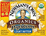 Newman's Own Organics Pop's Corn, Organic Microwave Popcorn, Light Butter, 2.8 Ounce each, 3-Count (Net Wt. 238g) (Pack of 12)