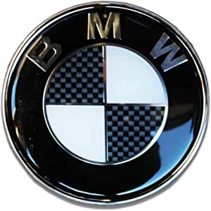 شعار Universal BMW Black And Carbon Bonnet Emblem B2 - رمادي - عالمي