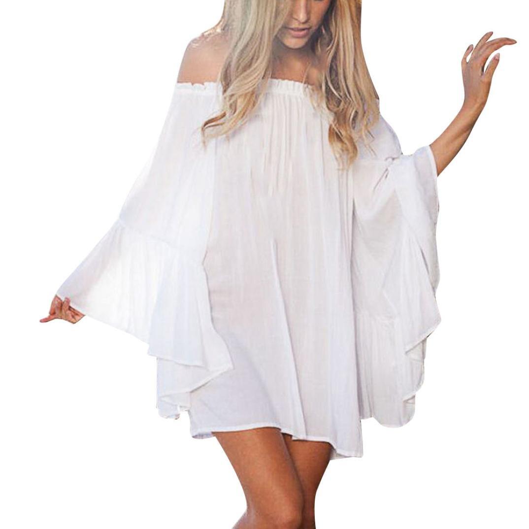 HCFKJ Kleid Damen Sommer Elegant 2018 Frauen Schulterfrei Beachwear Bademode Bikini Vertuschen Damen Sommerkleider