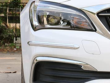 Car Bumper Anti-rub Cover Stickers Protector Guard 3D White Streamline For BMW