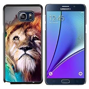 Pintura León- Metal de aluminio y de plástico duro Caja del teléfono - Negro - Samsung Galaxy Note5 / N920