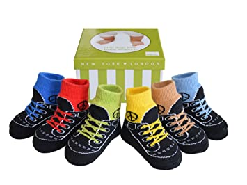 Baby anti-slip socks for 6-12-month toddle kids boy girls infant pack of 6 pairs