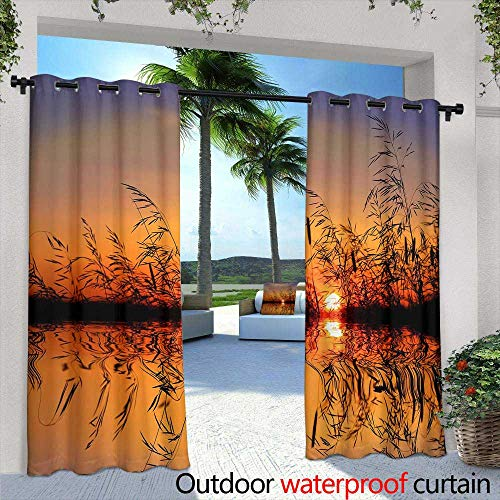 Outdoor- Free Standing Outdoor Privacy Curtain,Gorgeous seamless pattern from tiles and border Moroccan, Portuguese, Turkish, Azulejo ornaments Can be used for wallpaper, fills pattern, web page back