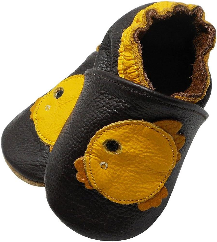 YALION Baby Weiche Leder Lauflernschuhe Junge Krabbelschuhe M/ädchen Hausschuhe Lederpuschen Multi-Stile