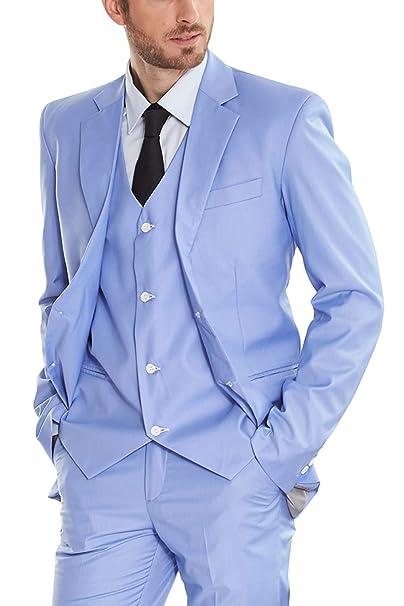 Amazon.com: P.L.X - Traje para hombre de estilo vintage, 3 ...