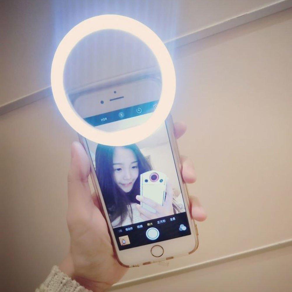 SuBoZhuLiuJ Mini Selfie LED Ring Light Clip Fill Light Ring Photography Self-Timer Artifact for iPhone Android Phone by SuBoZhuLiuJ (Image #4)