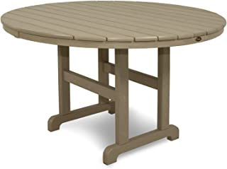product image for Trex Outdoor Furniture TXRT248SC Monterey Bay Round Dining Table, 48-Inch, Sand Castle