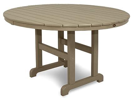 Amazoncom Trex Outdoor Furniture TXRTSC Monterey Bay Round - 48 inch outdoor table