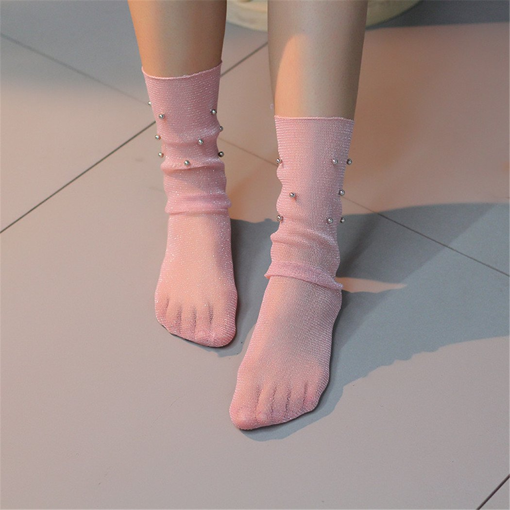 Amazon.com : Fascigirl Summer Socks Womens Sheer Socks Sexy Casual Knee High Slouch Socks : Sports & Outdoors