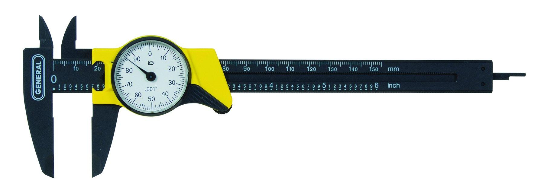 General Tools 145 6-Inch Plastic Dial Caliper, Thousandths Reading