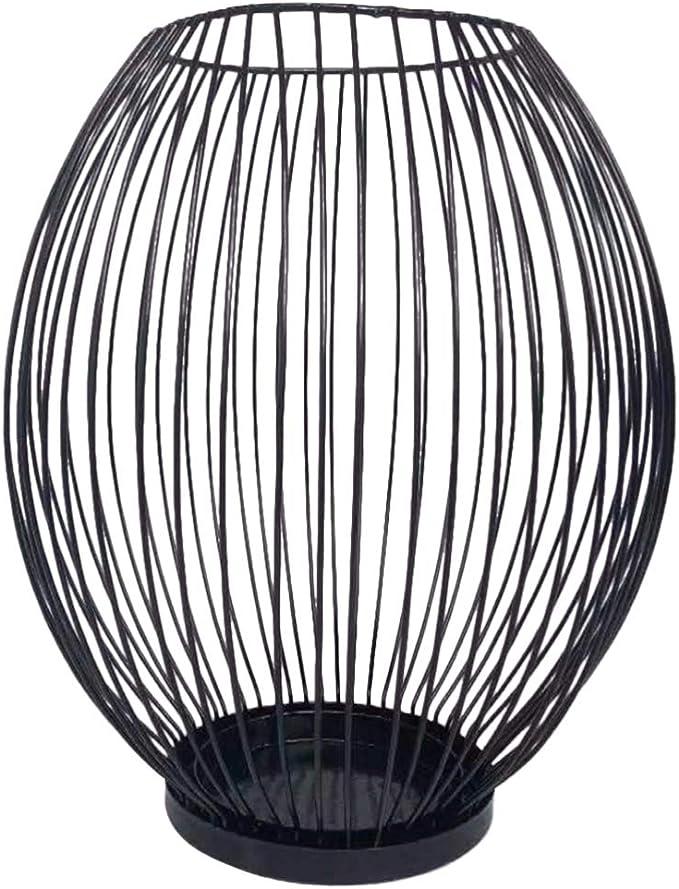 Garneck Linterna de La Vela de La Vendimia Único Candelabro de Red de Hierro Decorativo Linterna Candelita Jaula de Alambre Centro de Mesa Decoración de La Mesa para El Banquete de Boda