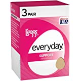 L'eggs Legg's Control Top Support Panty Hose 3 Pair Pack