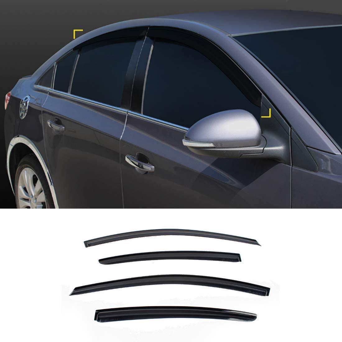 New Smoked Door Visor K901-046 for Chevrolet Cruze 4-Door 2011-2012 Weather Shield Windown Visor