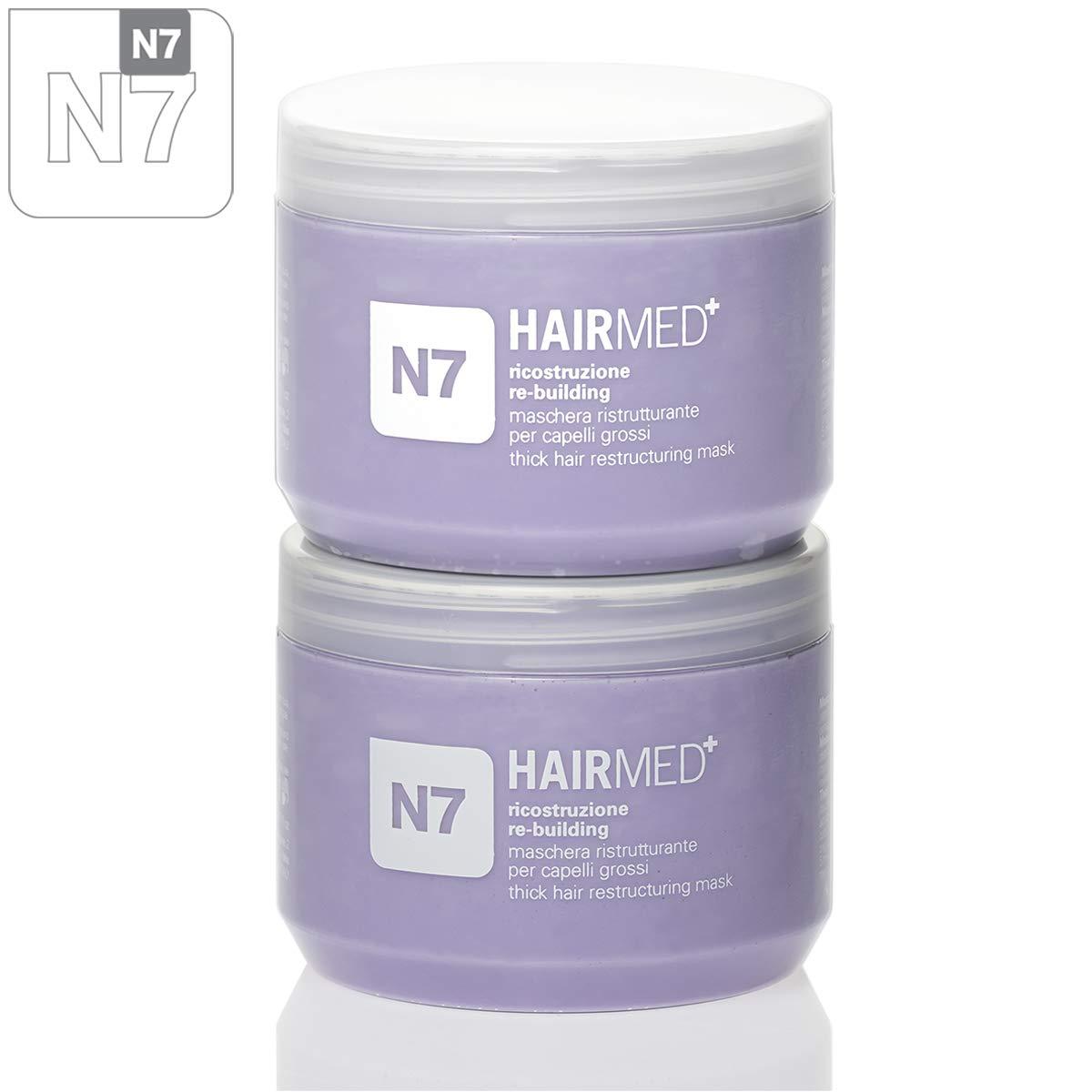 HAIRMED - Maschera professionale per capelli (Maschera Ricostruzione Cappeli Grossi N7, 250 ml) HAIRMED haircare innovative