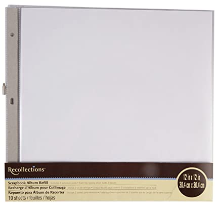 Amazon Recollections Scrapbook Album Refill Pages 12 X 12