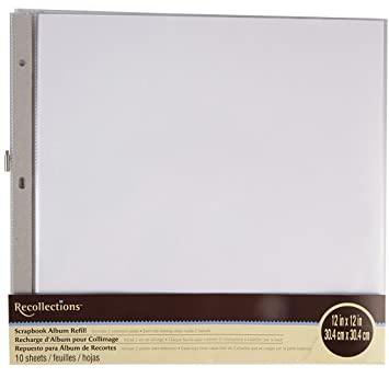 Amazoncom Recollections Scrapbook Album Refill Pages 12 X 12