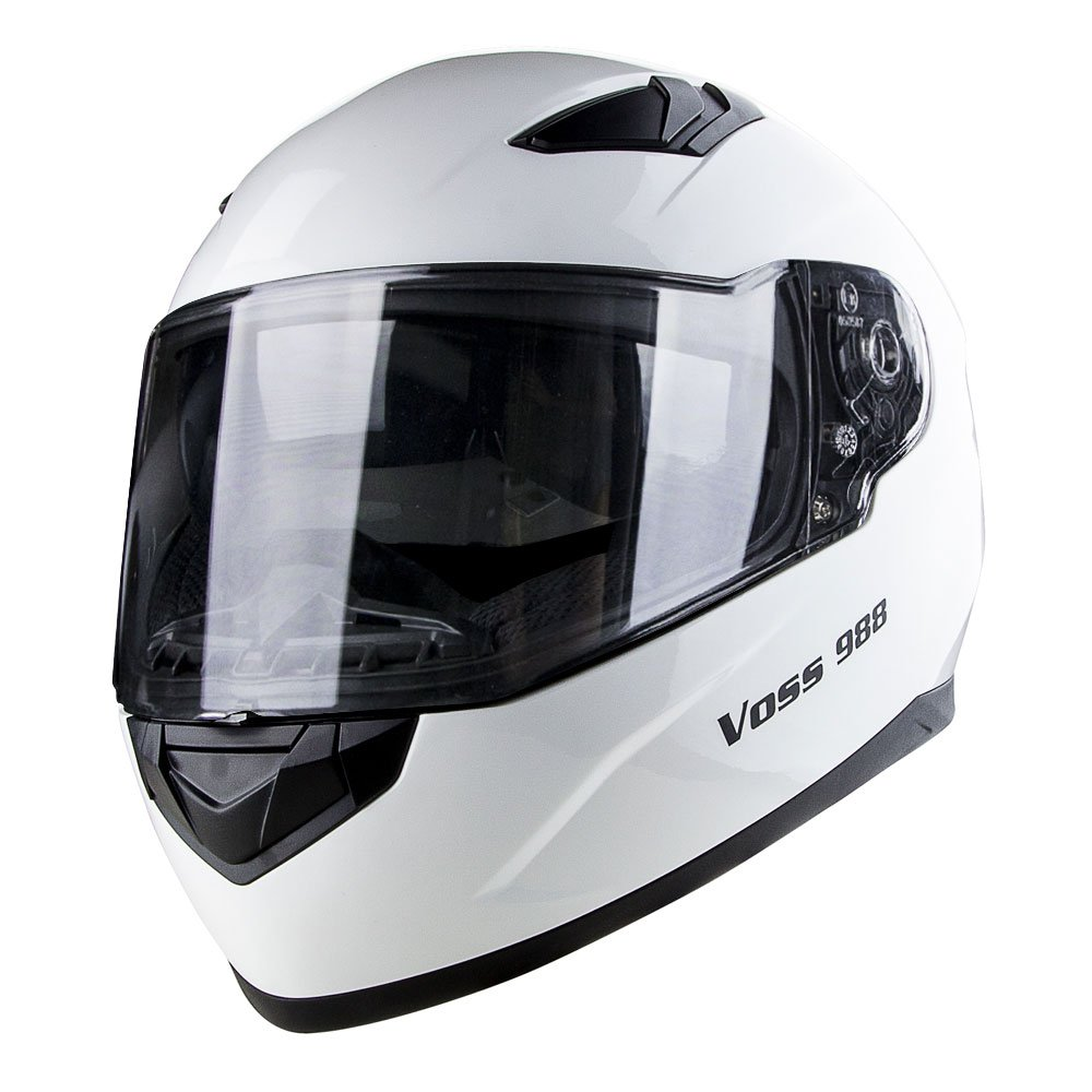 Amazon.com: Voss 988 Synchro Graphic DOT Full Face Helmet with Integrated Sun Lens - S - Matte Blue Synchro: Automotive