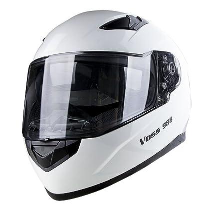 Voss 988 Moto-1 Street Full Face Helmet with Drop Down Internal Sun Lens -