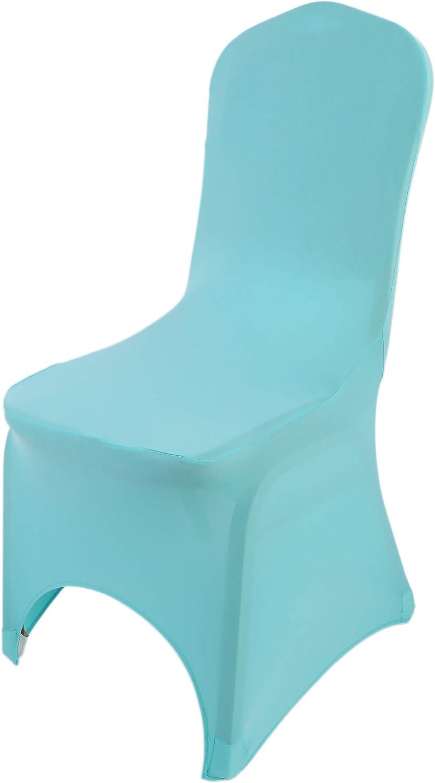 The Chair Cover Company Fundas para sillas Spandex Lycra universales para sillas de Comedor, Banquetes de Boda, Fiesta, con Arco Frontal, Azul Tiffany, 20: Amazon.es: Hogar