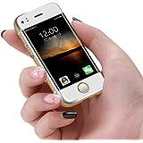 ミニ2.45インチ携帯電話小型スマートフォンAndroid携帯電話デュアルカードWiFi(ゴールド)