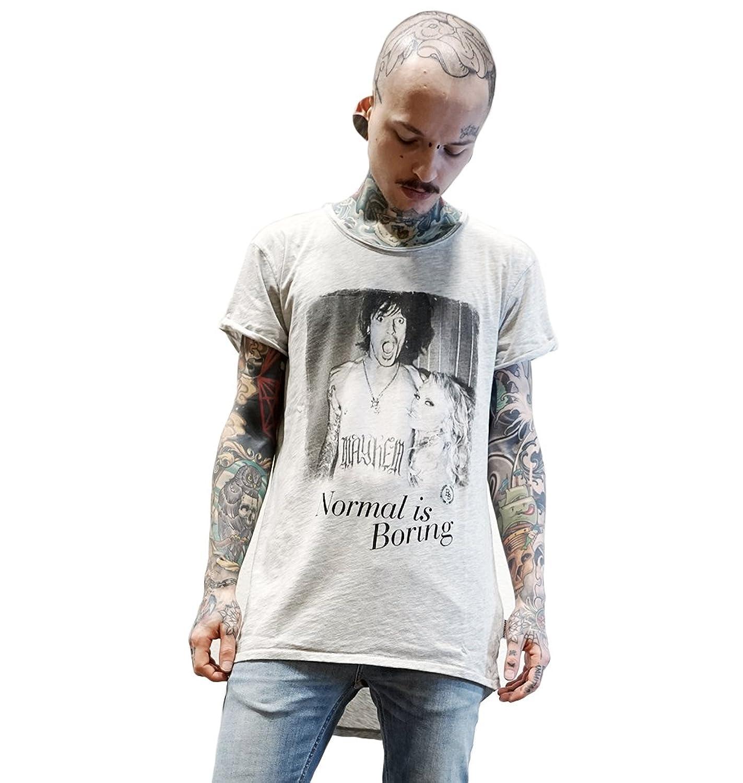 Boom Bap Normal Long Back Herren T-Shirt grau Longshirt T Shirt Longline  Longfit Hipster grey melange: Amazon.de: Bekleidung