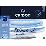 Canson Montval 300gsm watercolour practice paper Block including 12 sheets, size: 24x32cm, natural white and Cold Pressed (Not) textured paper