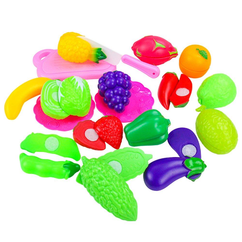 Küchenspielzeug Schneiden Küche Kunststoff Gemüse Lebensmittel Spielzeug Kinder Pädagogisches Lernen Obst Rollenspieleeichhorn Weihnachtsgeschenk CFZHANG