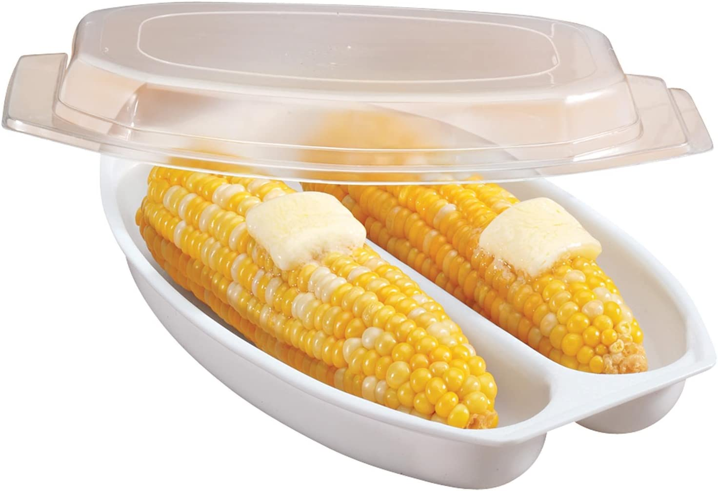 Amazon Com Walterdrake White Microwave Corn Steamer Microwave Oven Accessories Kitchen Dining