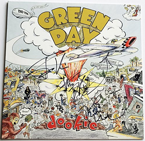 Grassy Day signed Dookie album Billie joe armstrong Tre Cool Mike Dirnt group autographed