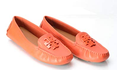 399468155a84d Tory Burch Women s Lowell 2 Driver Flats Samba Orange