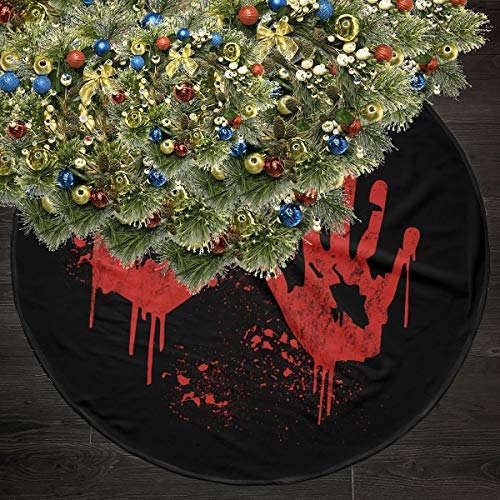 Wodehous Adonis Bloody Handprint Clings Splash 35.5 Inches Christmas Tree Skirts Ornament Christmas Holiday Party Decoration]()