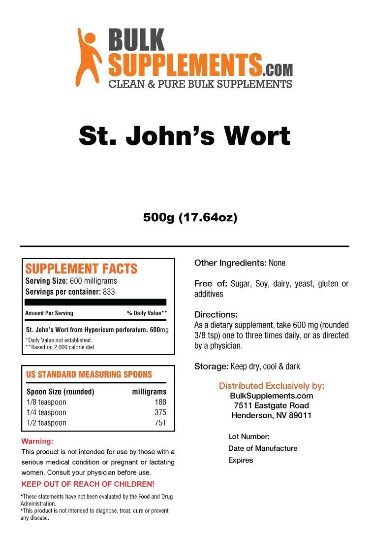 BulkSupplements St. John s Wort Extract Powder 25 Kilograms