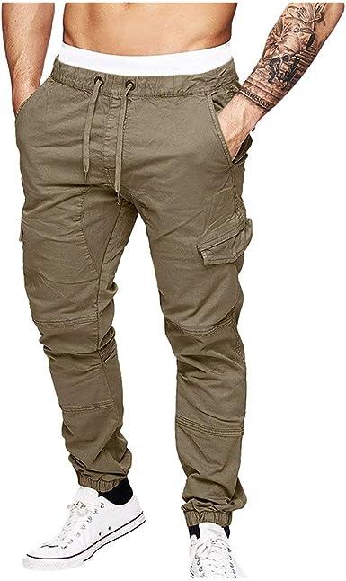AMUSTER Pantaloncini Pantaloni Uomo Cotone Palestra