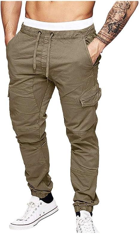 beautyjourney Pantalones de Jogging Ajustados para Hombre ...
