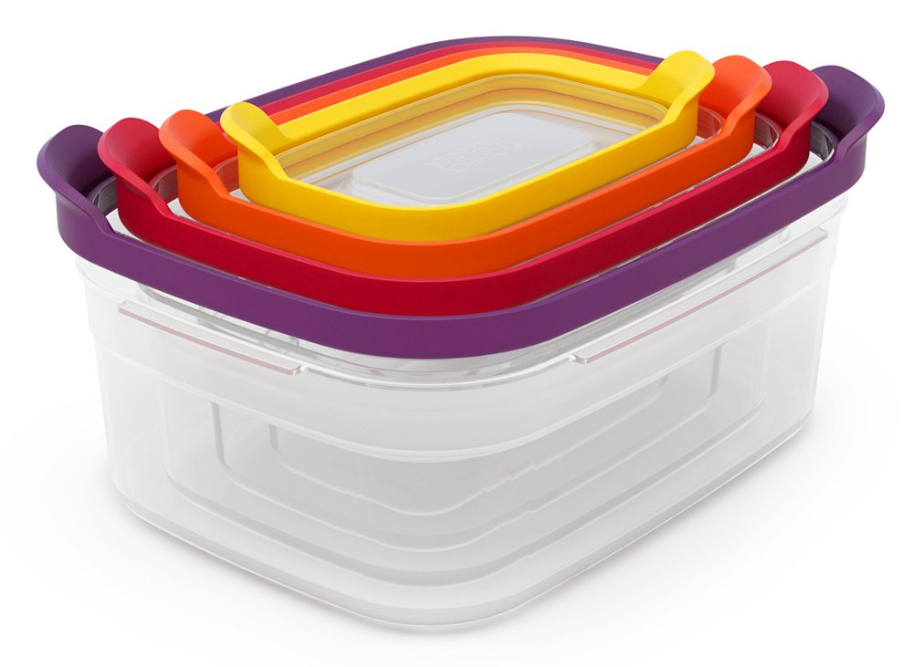 Joseph Joseph Nest Compact Storage Containers, 4-Piece Set - Multi-Colour 81006