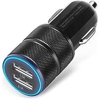 Amison 2.1A / 24W Doble Puerto Smart USB Quick Charge Cargador de coche (negro)