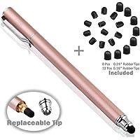 B&D スタイラスペン ペン先交換式タッチペン 2in1 ペン+20pcs交換用ペン先 タッチスクリーン対応 (ローズゴールド)