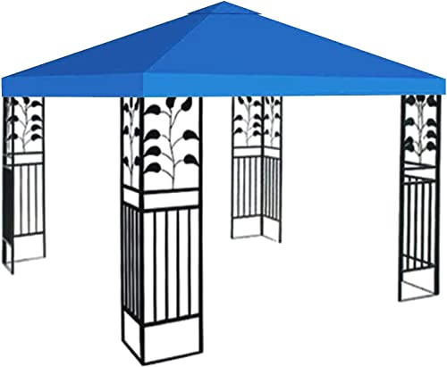 STRONG CAMEL Replacement 10'X10'Gazebo Canopy top Patio Pavilion Cover Sunshade plyester Single Tier Blue