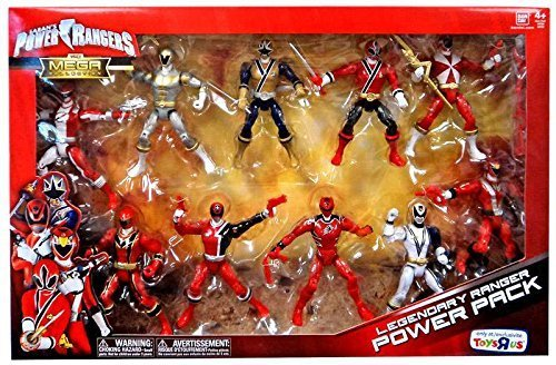 Power Rangers The Mega Collection Legendary Ranger Power Pack Exclusive Action Figure Set (Power Rangers Jungle Fury Red Ranger Toy)