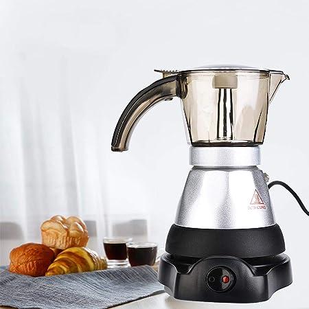 Cafetera, gran capacidad eléctrica Moka Pot Stovetop Espresso Percolator para uso doméstico en la cocina(150ML)