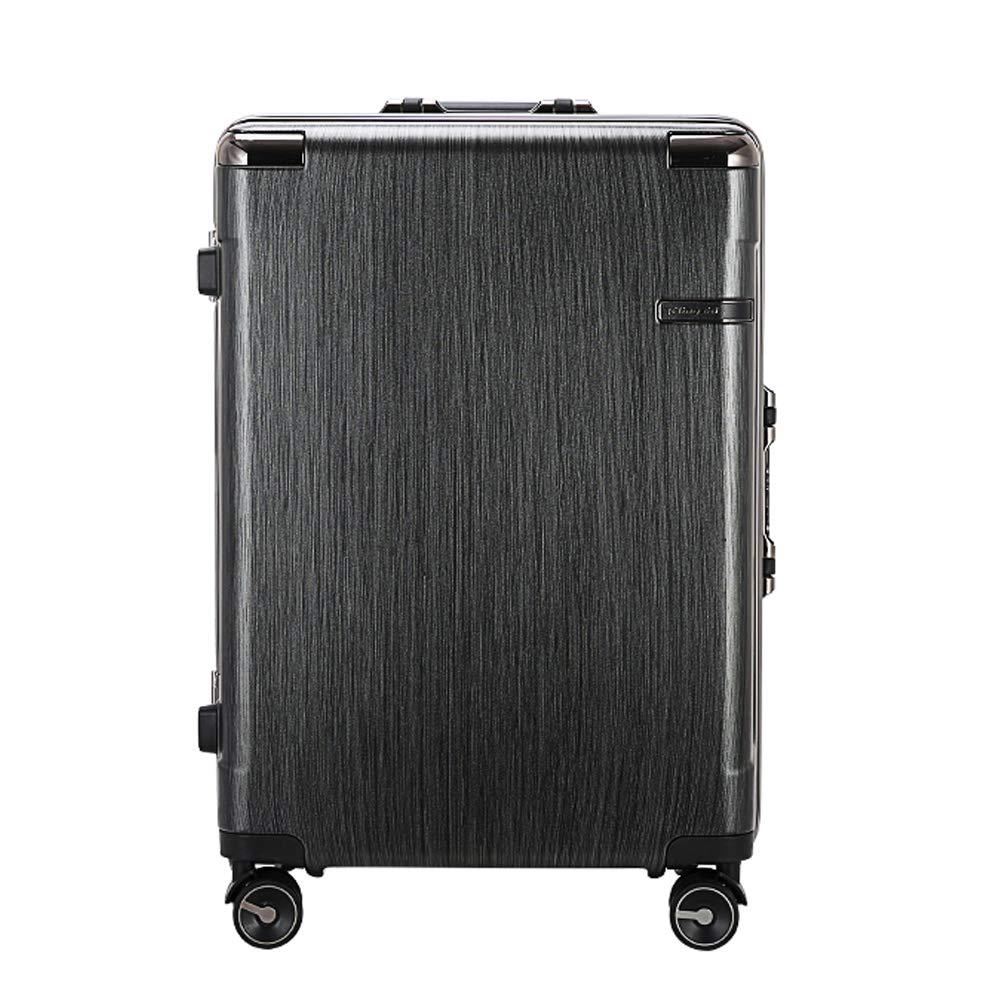 超軽量 スーツケース TSAロック付 静音 アルミマグネシウム合金 スーツケース 旅行 出張 B07DNXCYVW ブラック L