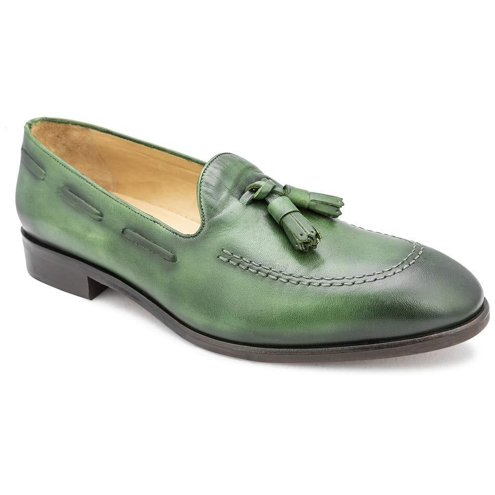 tresmode Men's Tassel Leather Loafers