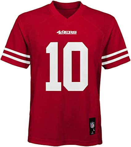 Outerstuff Jimmy Garoppolo San Francisco 49ers NFL Kids 4-7 Red Home Mid-Tier Jersey