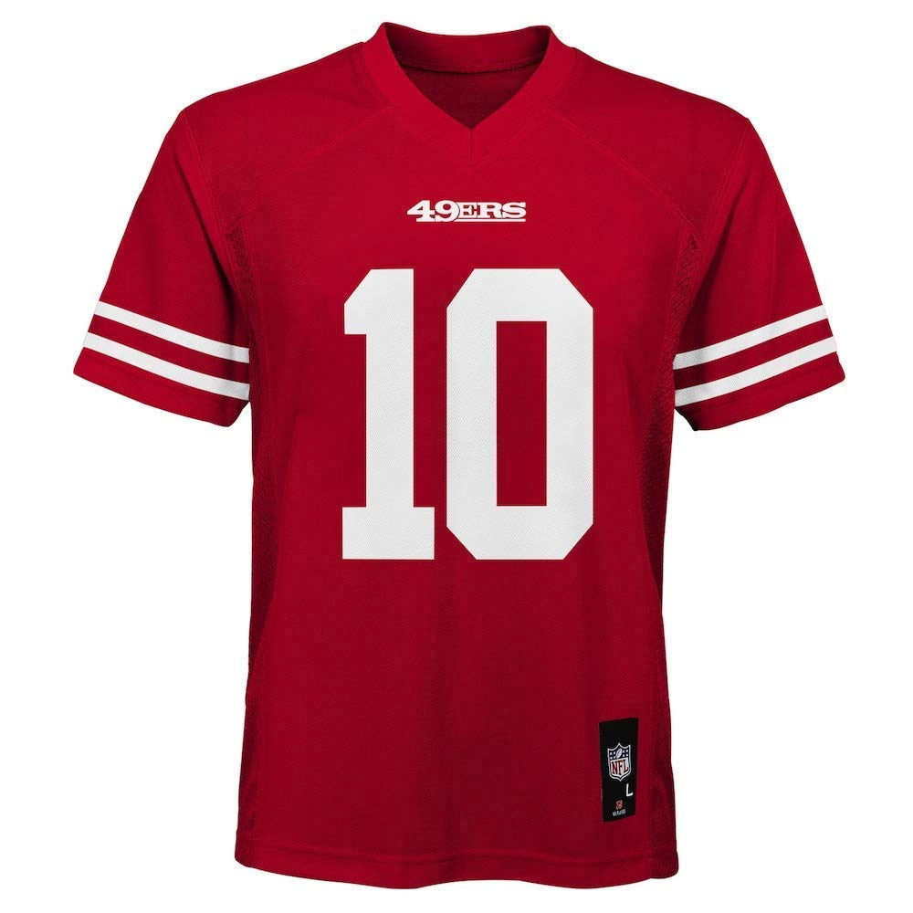 wholesale dealer 406dd 015a0 Outerstuff Jimmy Garoppolo San Francisco 49ers NFL Kids 4-7 Red Home  Mid-Tier Jersey