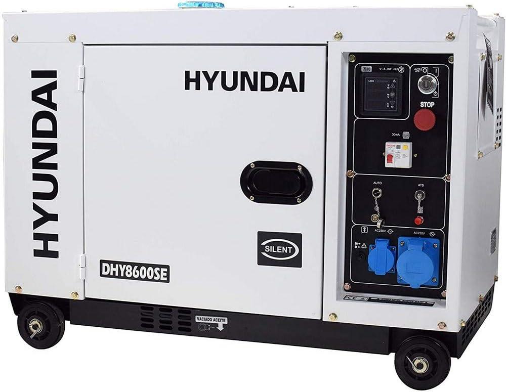 Hyundai - Generador Diésel insonorizado (pantalla LED, motor 4 tiempos)