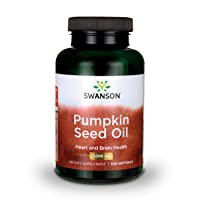 Swanson Pumpkin Seed Oil Brain Health Cardiovascular Support High Bioavailable Essential Fatty Acids (EFAs) Combination Herbal Supplement 1000 mg 100 Softgel Capsules